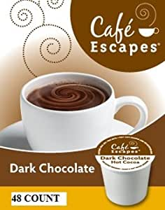Cafe Escapes ~ DARK CHOCOLATE HOT COCOA ~ 48 K-Cups for Keurig Brewers
