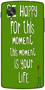 Snoogg Be Happy Boldness 2754 Designer Protective Back Case Cover For Google ...