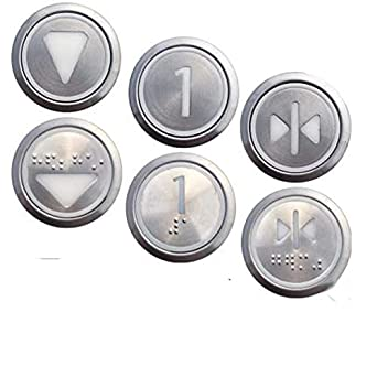 2pcs lot ! KONE Elevator Round Stainless Steel Buttons