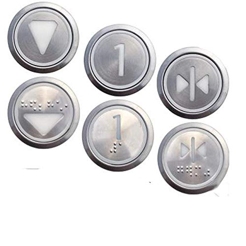 Elevator Parts - 2pcs lot ! KONE Elevator Round Stainless Steel Buttons KDS300 (KDS50) Switch Button