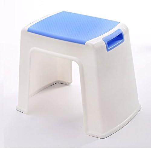 MyAou-Shower Chair Badehocker Verdickt Erwachsene Kinder Bad Dusche Hocker Tischhocker Ersatz Schuhhocker (Farbe : Blau, größe : XL)