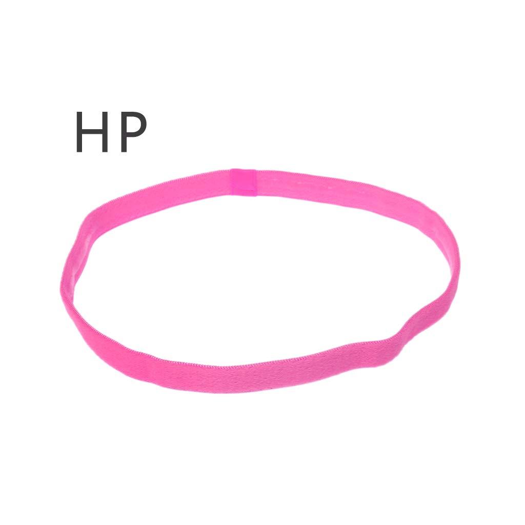 jiulonerst Elastic Sports Hairband,Non-Slip Headband Hair Rope Football Hot Yoga for Adult Women Men