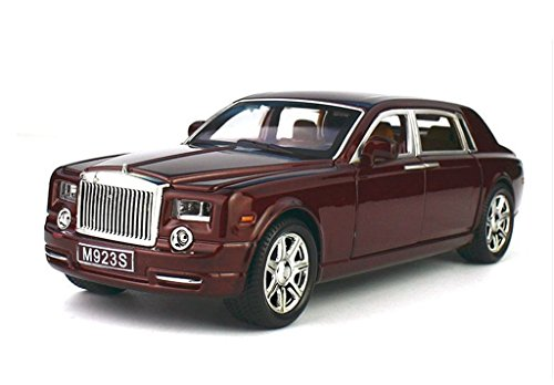 Model car,Greshare 1:24 Rolls-Royce Phantom Diecast Sound & Light & Pull Back Model Toy Car Wine Red New in Box