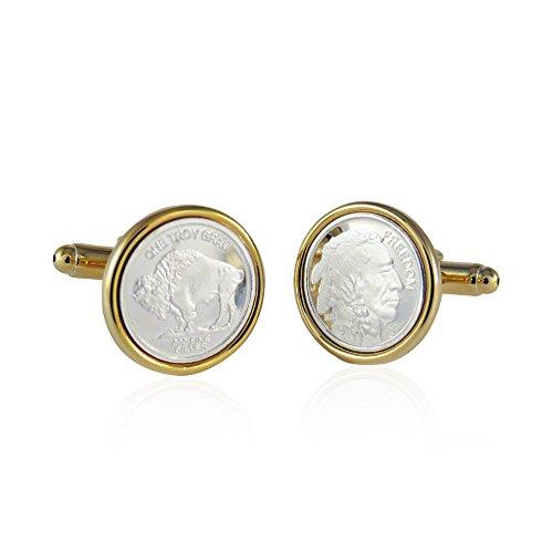 Genuine Silver Bullion Coin Cufflinks By Jewelry Mountain