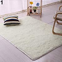 BEESCLOVER Plush Shaggy Soft Carpet Room Area Rug Bedroom Slip Resistant Door Floor Mat