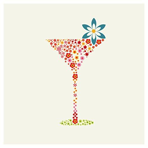 floral beverage napkins - 3