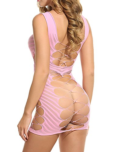 Chemise Lingerie Women Fishnet Dress