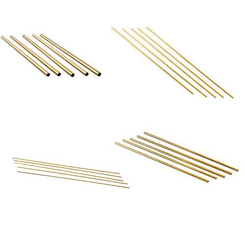 Silverdewi Tubi di Ottone 2mm-6mm Tubazione Strumenti per la Fabbricazione di Modelli di ingegneria Connettori per Tubi in Ottone Utensile da Taglio per Tubi in Ottone 300X1,5X2mm Giallo