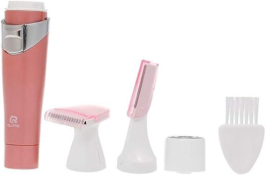 Afeitadora eléctrica para mujeres La afeitadora 3 en 1 de Anself impermeable portátil sin dolor aplicable a la cara, brazos, manos, axilas, bikini, piernas con cepillo sin batería: Amazon.es: Salud y cuidado