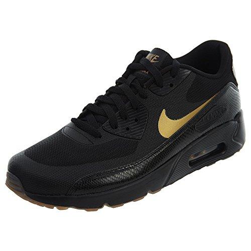 Nike Air Max 90 Ultra 2.0 Essential Mens Casual Sneakers Nero / Oro Metallizzato 875695-016