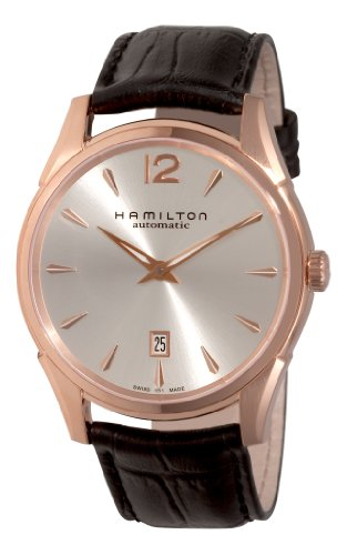Hamilton Men's H38645755 Jazzmaster Slim Silver Dial Watch