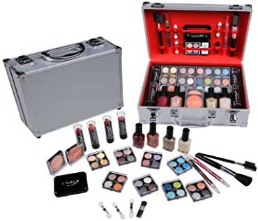 Carry All Makeup Train Case with Pro Makeup and Reusable Aluminum Case