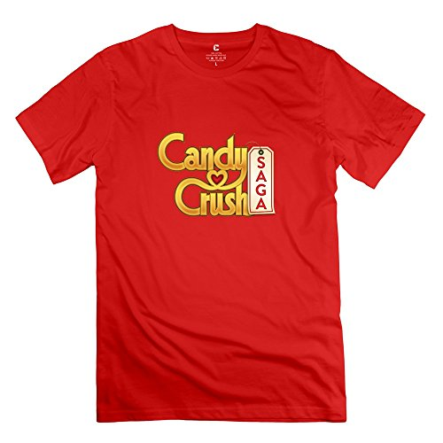 Candy Crush Saga Joke 100% Cotton Red T Shirts For Mens Size XL