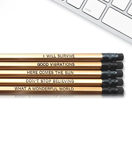 (Good Vibes - Inspirational Pencils Engraved With Funny And Motivational Sayings For School And The Office )