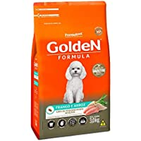 Ração Golden Fórmula Mini Bits para Cães Adultos de Pequeno Porte Sabor Frango e Arroz, 3kg Premier Pet Para Todas Pequeno Adulto,