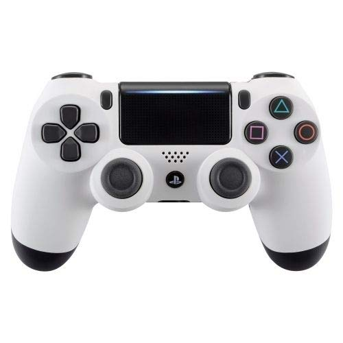 White Custom PS4 Rapid Fire Custom Modded Controller 40 Mods for All Major Shooter Games, Auto Aim, Quick Scope, Auto Run, Sniper Breath, Jump Shot, Active Reload & More (CUH-ZCT2)