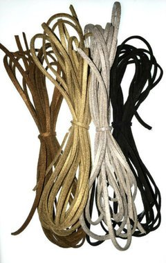 - UnCommon Artistry Faux Suede Leather Cord Variety Pack, Metallic Mix