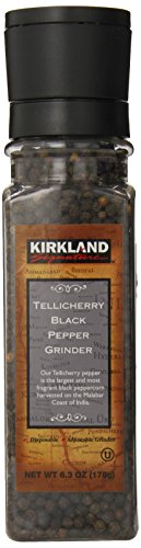 Kirkland Signature Tellicherry Black Pepper Grinder, 6.3 Ounce