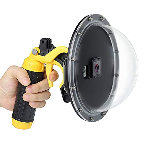 SOONSUN 6'' Dome Port Lens for GoPro Hero 5 Hero 6 Hero 2018 Hero 7 with Waterproof Dive Housing Case Floating Hand Grip and Pistol Trigger - 45m (147ft) Underwater Photography
