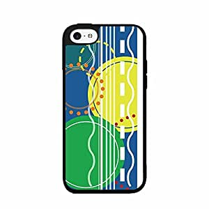 Abstract Circles and Stripes Pattern Plastic Fashion Phone Case Back Cover iPhone 5c