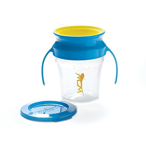 Wow Baby Wow Cup 360 Spill Free Training Cup - Blue/Yellow - 7 oz by Wow Baby (Spill 7 Ounce Cup)