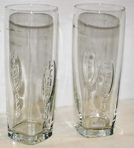 Bud Light Beer logo embossed Pint Glasses set of 2