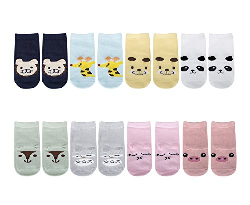 TARTINY Anti-Slip Cartoon Baby Socks No Show Animal Sneakers Socks, 8 Pairs per Pack (M 2-4 - Eyeglasses Quiz