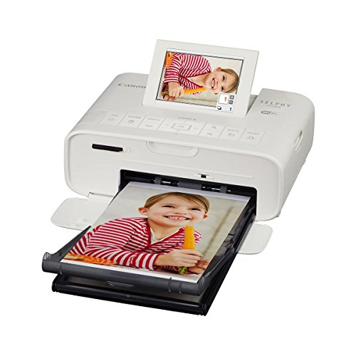 Canon SELPHY CP1300 Wireless Compact Photo Printer, White - Bundle KP-36IP Color Ink/Paper Set, USB Cable 6', Microfiber Cloth