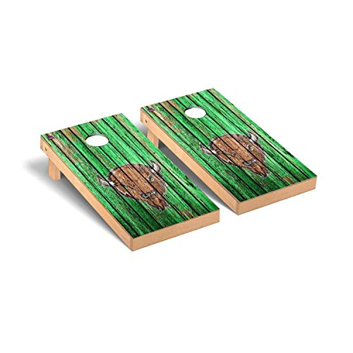 Victory Tailgate Regulation Collegiate NCAA Weathered Series Cornhole Board Set - 2 Boards, 8 Bags - Marshall Thundering Herd