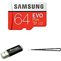 64GB Samsung Evo Plus Micro SD XC Class 10 UHS-1 64G Memory Card for Samsung Galaxy S9, S8, S8+, Note 8, S7 Edge, S4, S3, Cell Phones with TF/SD USB Card reader Wisla TM LANYARD (MB-MC64DA/AM)