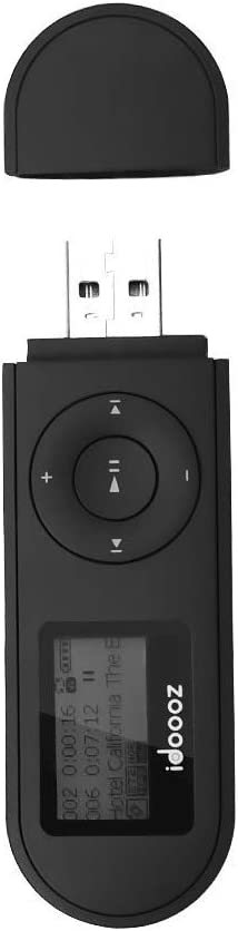 Mp3 Player,USB Mp3 Player with FM Radio,Voice Recorder,idoooz U2 8GB Music Player Support One-Button for Recording (Black)