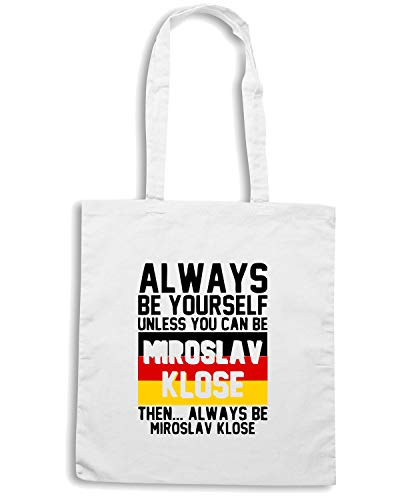 Speed Shirt Borsa Shopper Bianca WC0178 ALWAYS BE YOUR SELF UNLESS YOU CAN BE MIRISLAV KLOSE