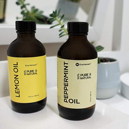 Top Rated Pure Peppermint Oil 4 Ounce by Eve Hansen. Therapeutic Essential Oil For Nausea Relief, Mice Repellent, Hair Growth Oil, Sinus Relief, Breath Freshener, and Natural Muscle Relaxer. Vegan! by Eve Hansen (Image #3)