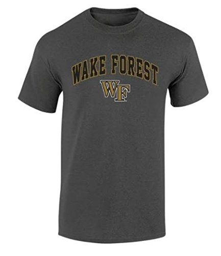 Elite Fan Shop NCAA Men's Wake Forest Demon Deacons T Shirt Dark Heather Arch Wake Forest Demon Deacons Dark Heather X Large