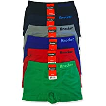 Knocker Youth Boys Sports Soccer Seamless Underwear - 6 Pair Multipack