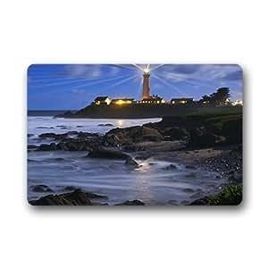 """Custom Beach Lighthouse Doormat Outdoor Indoor 23.6""""x15.7"""" about 59.9cmx39.8cm"""