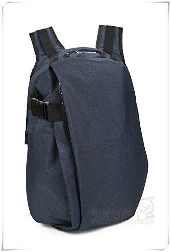 Alta capacidad de dama moda mochila de tela oxford ocio tote hombro,Gris El azul