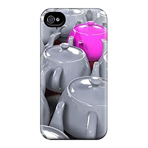 Premium Pink Porcelain Pot Heavy-duty Protection Case For Iphone 4/4s