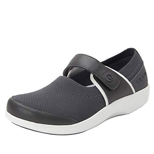 TRAQ BY ALEGRIA Qutie Womens Smart Walking Shoe Charcoal 8 M US