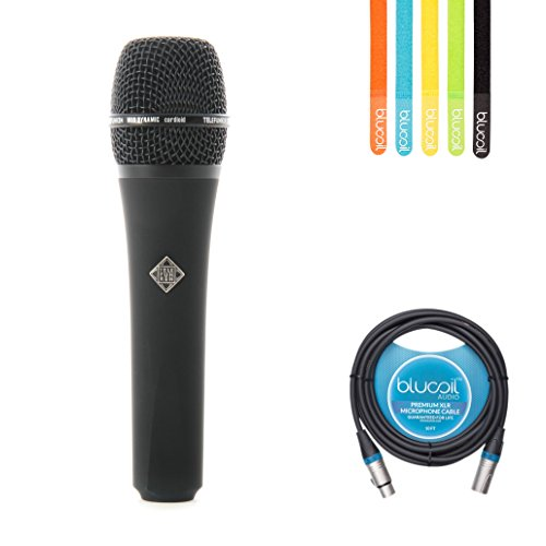 Telefunken M80 Dynamic Supercardioid Microphone -INCLUDES- Blucoil Audio 10' Balanced XLR Male to Female Cable AND 5-Pack of Cable Ties by blucoil