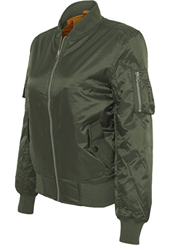 Urban Classics Ladies Basic Bomber Jacket, Chaqueta para Mujer Olive