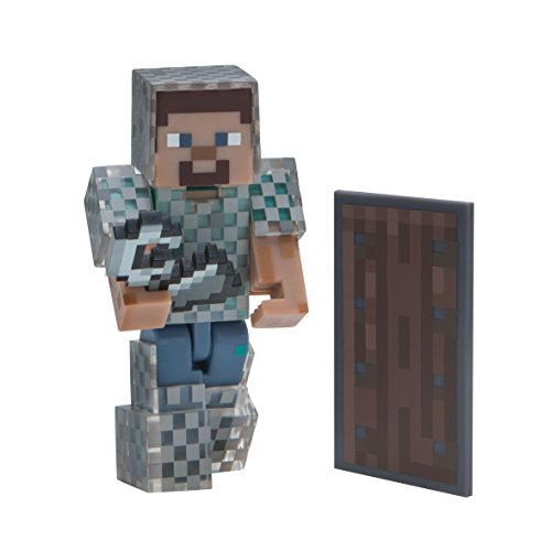 Minecraft Steve in Chain Armor Figure Pack Action Figure