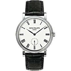 Patek Philippe Calatrava 31mm Mechanical White Dial Mens Watch 7119G-010