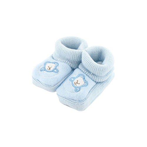 zapatitos de bebé 0-3 Meses azul - Luna Patrón Oso