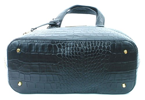 Bag Black Embossed Handbag Leather RRP Medium Donna Croc Shoulder Karan 300 DKNY Uw0xRA