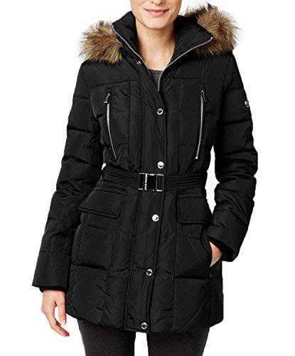 Faux Fur Belted Coat - 8