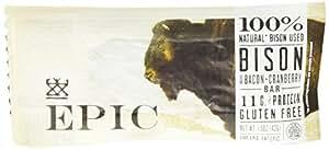 EPIC: Bison Bacon Cranberry Bar, 1 bar (6 pack)