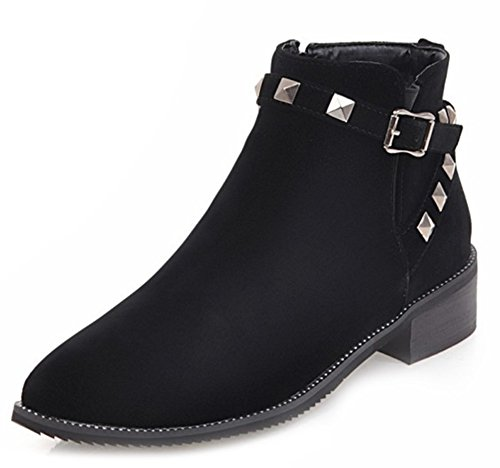 Low Bottines Chunky Bout Boots Femme Easemax Classique Pointu FIXq0wEw