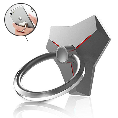 Alien Stand - Finger Ring Stand, ASMOTIM Phone Ring Holder Zinc Alloy 360 Degree Rotation Alien Designs Cell Phone Ring Stand Holder Grip kickstand Universal Smartphone iPhone Ring for Mobile/iPad and More (Sliver)