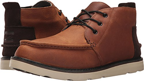 TOMS Men's Chukka Boot Waterproof Brown Pull-Up Leather Boot